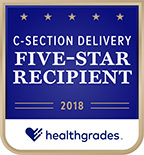 Healthgrades Five-Star Recipient for C-Section Delivery