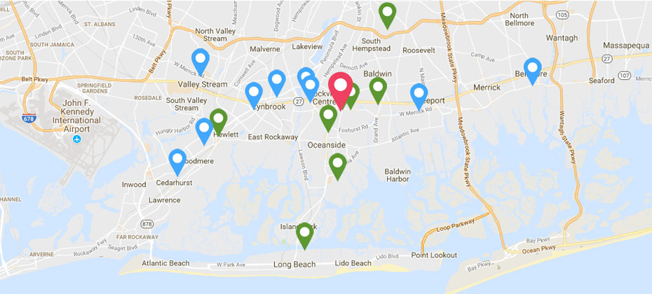 South Nassau Locations Map