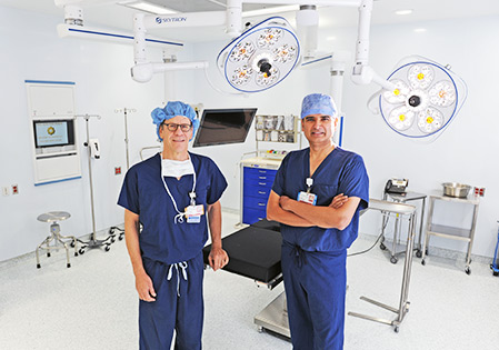 South Nassau Opens Two New Modernized Surgical Suites: Jonathan E. Singer, MD, chairman of the Department of Anesthesiology; Rajiv Datta, MD, chairman of the Department of Surgery and medical director of Gertrude & Louis Feil Cancer Center
