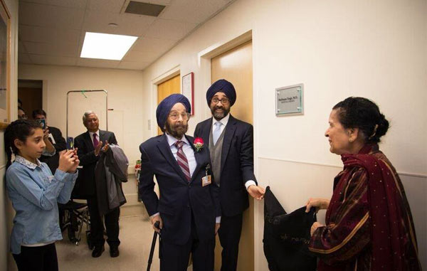 The Harbhajan Singh, MD Medical Library Dedication